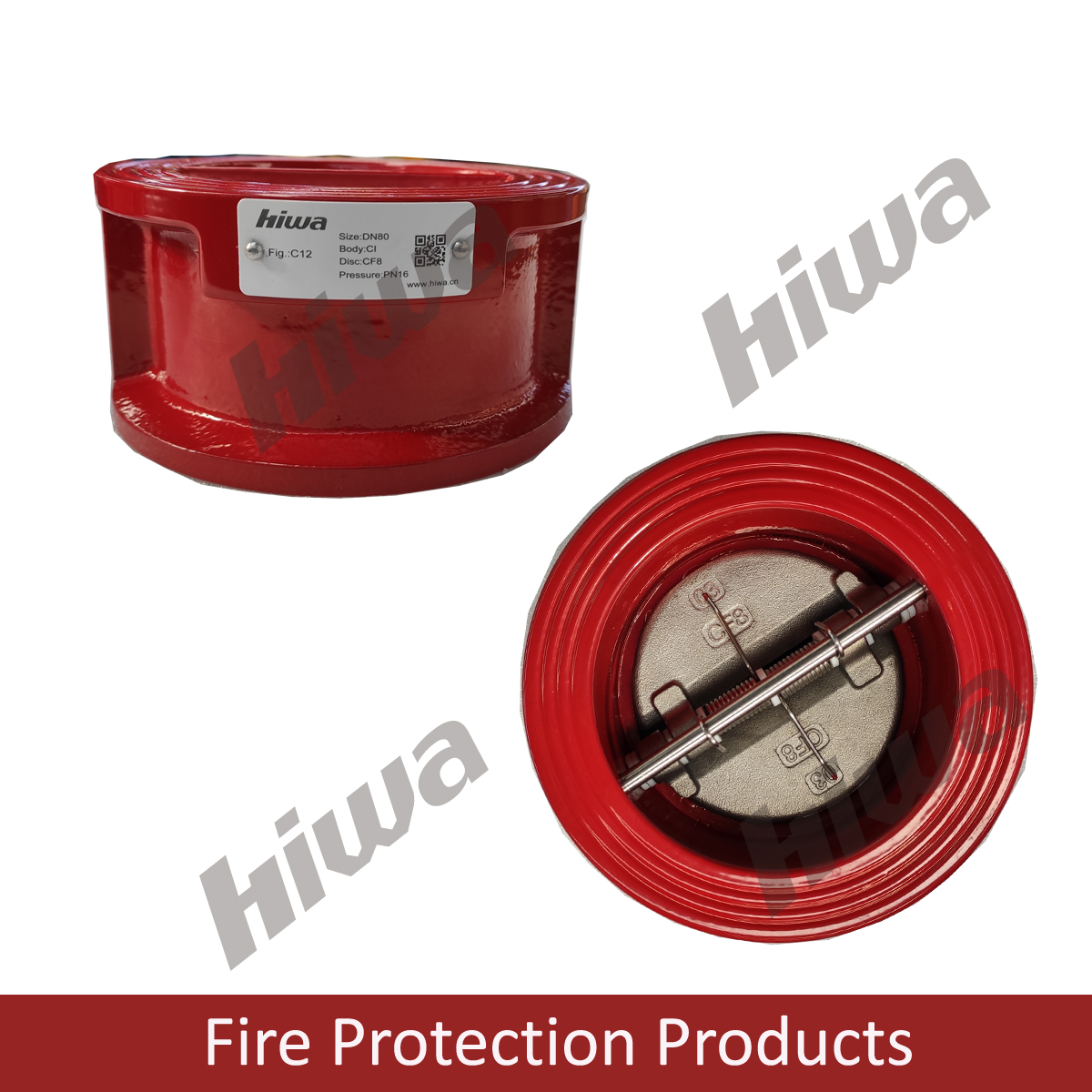 Fire service Wafer dual plate check valve