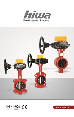 Fire service Butterfly valve, wafer, groove and lug ends